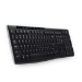 Logitech K270 teclado RF Wireless QWERTZ Checa Black