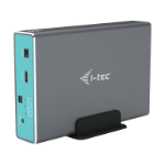 "i-tec CAMYSAFEDUAL25 behuizing voor opslagstations HDD-/SSD-behuizing Grijs 2.5"""
