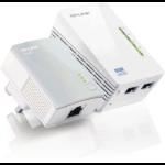 TP-LINK TL-WPA4220 KIT V1.20 600 Mbit/s Ethernet LAN Wi-Fi White 2 pc(s)