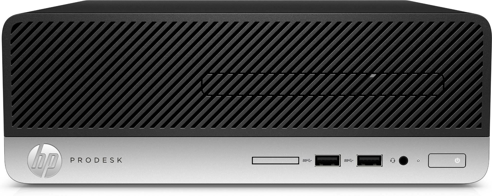 HP ProDesk 400 G5 8th gen Intel® Core™ i3 i3-8100 4 GB DDR4-SDRAM 500 GB HDD SFF Black,Silver PC Windows 10 Pro