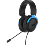 ASUS TUF Gaming H3 Headset Hoofdband Zwart, Blauw