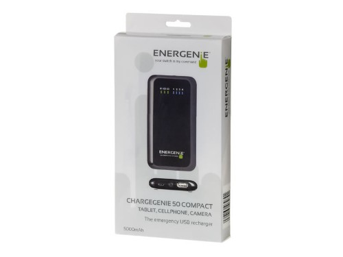 EnerGenie ChargeGenie 50 power bank 5000 mAh Black