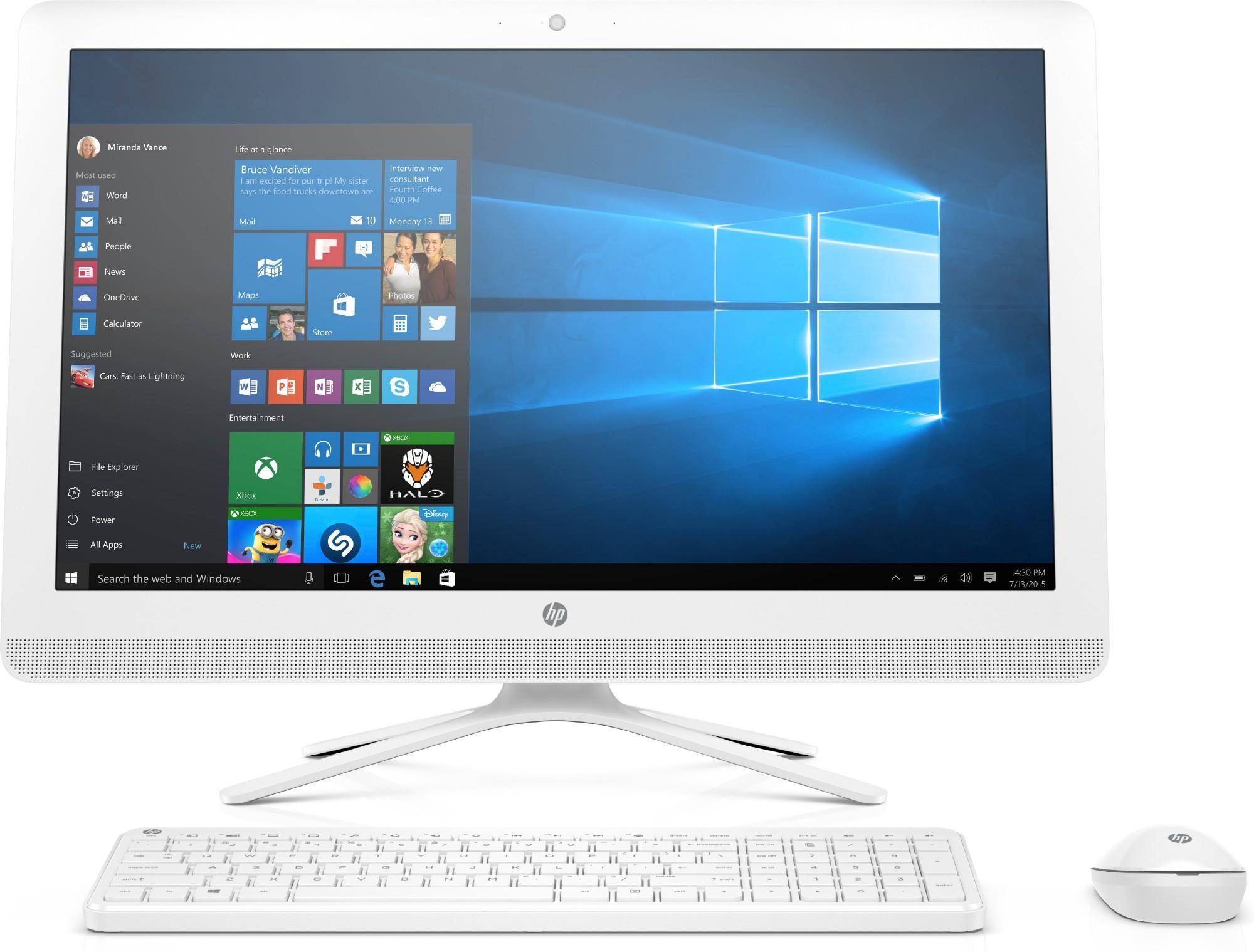 HP 24 -e082na 2.4GHz A9-9400 AMD A 23.8
