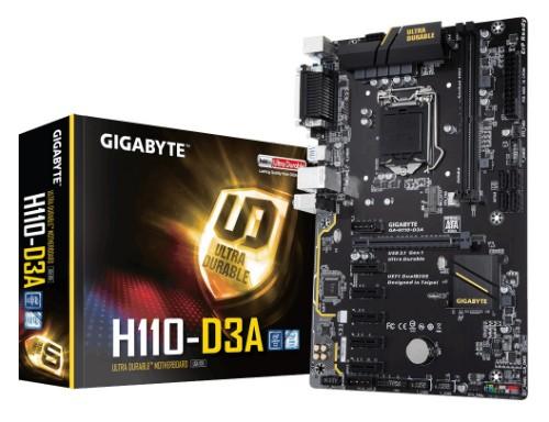 Gigabyte H110-D3A motherboard LGA 1151 (Socket H4) ATX H110 Express