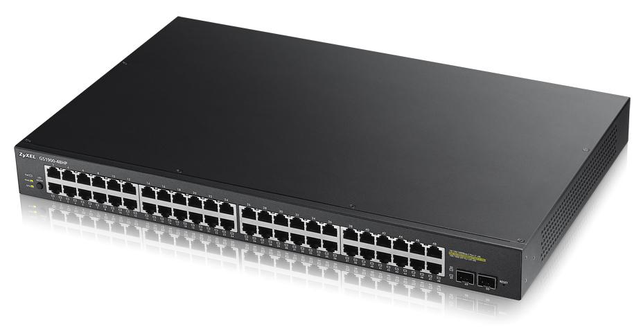 Zyxel GS1900-48HP Gestionado L2 Gigabit Ethernet (10/100/1000) Negro Energía sobre Ethernet (PoE)
