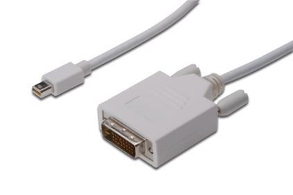 ASSMANN Electronic mini DP - DVI, 2m mini DisplayPort DVI-D White