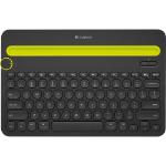 Logitech K480 Bluetooth QWERTY Negro teclado para móvil