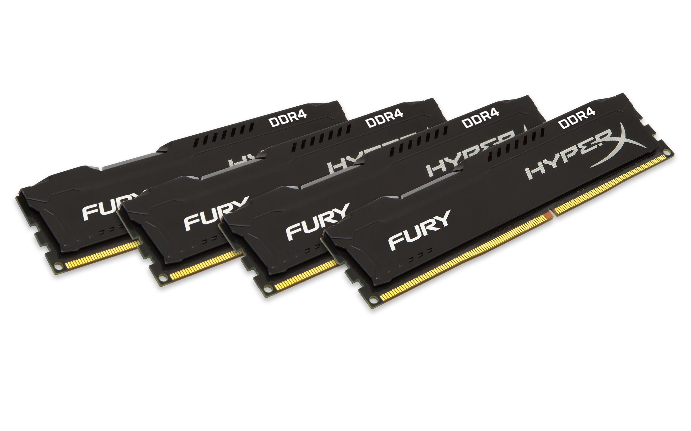 HyperX FURY HX424C15FBK4/16 Black Series 16GB (4x4GB) 2400 MHz DIMM Memory Kit