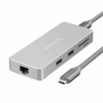 Sabrent HB-UHPN notebook dock/port replicator Wired USB 3.2 Gen 1 (3.1 Gen 1) Type-C Gray