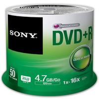 Sony DVD+R 4.7GB Storage Media  - 50 Pack (50DPR47SP)