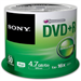 Sony DVD+R 4.7GB Storage Media  - 50 Pack (50DPR47SP)