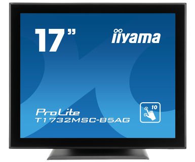 "iiyama ProLite T1732MSC-B5AG touch screen monitor 43.2 cm (17"") 1280 x 1024 pixels Black Multi-touch"