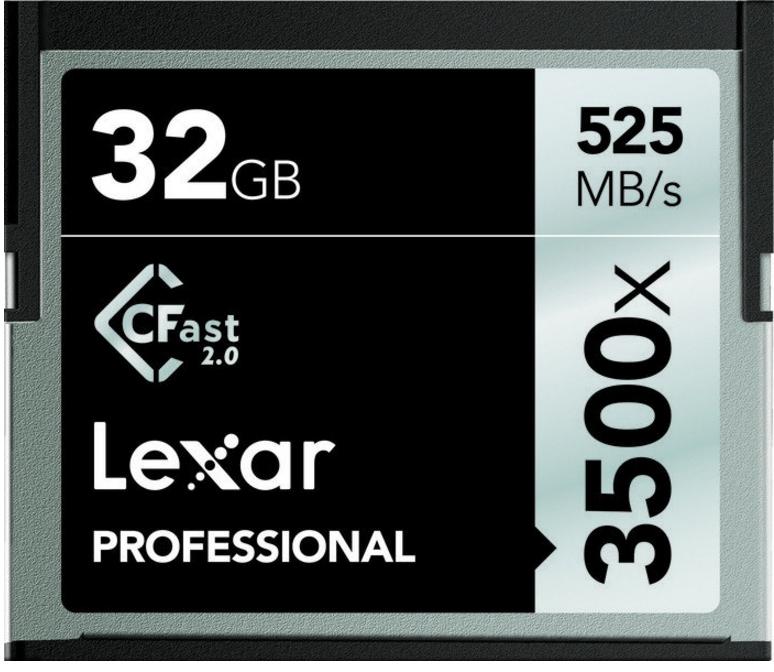 Lexar CFast 2.0, 32GB 32GB CompactFlash memory card