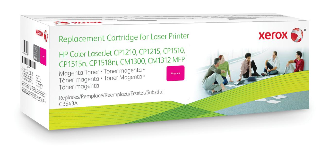 Xerox Cartucho de tóner magenta. Equivalente a HP CB543A. Compatible con HP Colour LaserJet CM1312 MFP, Colour LaserJet CM1525, Colour LaserJetCP1515N, Colour LaserJetCP1518N
