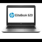 """HP EliteBook 820 G4 Notebook 12.5"""" 1920 x 1080 pixels 7th gen Intel® Core™ i7 16 GB DDR4-SDRAM 256 GB SSD Wi-Fi 5 (802.11ac) Windows 10 Pro Silver"""