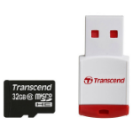 Transcend microSDHC Class 10 with P3 Card Reader (Premium) memory card 32 GB