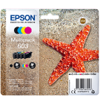 Epson C13T03U64010 (603) Ink cartridge multi pack, 3,4ml + 3x2,4ml, Pack qty 4