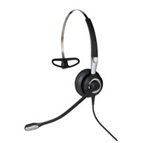Jabra Biz 2400 II QD Mono NC 3-in-1 Wideband Monaural Ear-hook, Head-band, Neck-band Black, Silver