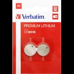 Verbatim CR2016 3V Lithuim Battery (2 pack)