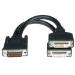 C2G LFH-59 M / 2 DVI-I F Cable 0.2m