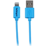 StarTech.com 1m (3ft) Blue Apple 8-pin Lightning Connector to USB Cable for iPhone / iPod / iPad mobile phone cable