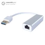 CONNEkT Gear USB 3 to RJ45 CAT 6 Gigabit Ethernet Adapter - Male to Female