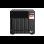 QNAP TS-473A NAS Tower Ethernet LAN Black V1500B TS-473A-8G/16TB-RED
