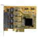 StarTech.com 4-Port PCIe Gigabit Network Adapter Card ST1000SPEX43