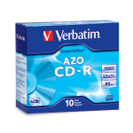 Verbatim CD-R 80MIN 700MB 52X DataLifePlus Branded 10pk Slim Cases CD-R 700MB 10pc(s)