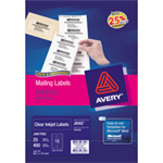 Avery Clear Mini Label- Ink jet - J8551 Transparent