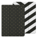 Belkin 2-in-1 Reversible Folio Case with Multiple Viewing Angles for iPad Air 2, Chevron and Dotted Designs  Black/White/Gold