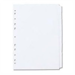 Concord Subject Dividers 150gsm Punched 11 Holes 20-Part A4 White Ref 79601/96