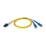 "Tripp Lite N366-01M fiber optic cable 39.4"" (1 m) OFNR LC 2x SC Yellow"