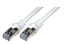 MCL FCC6BM-10M/W cable de red Blanco