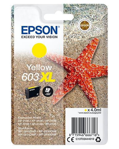 Epson Singlepack Yellow 603XL Ink