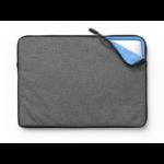 "eSTUFF ES82251-TWILL notebook case 39.1 cm (15.4"") Sleeve case Black, Grey"