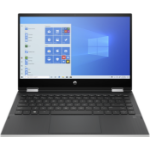 "HP Pavilion x360 14-dw1010na Hybrid (2-in-1) 35.6 cm (14"") 1920 x 1080 pixels Touchscreen Intel® Pentium® Gold 8 GB DDR4-SDRAM 128 GB SSD Wi-Fi 5 (802.11ac) Windows 10 Home S Black, Silver"