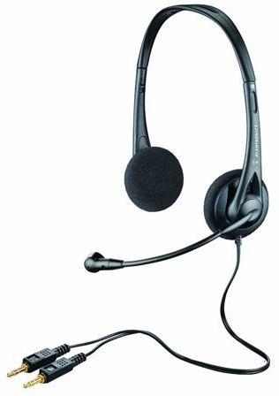 Plantronics Audio 322 Binaural Head-band Black headset