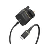 OtterBox UK Wall Charger Bundle USB C 18W USB-PD + Cable USB C-C 1M, black