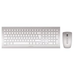Cherry DW 8000 RF Wireless QWERTY UK English Silver,White keyboard
