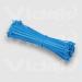 Videk 3.6mm x 292mm Pack 100 Nylon Blue cable tie