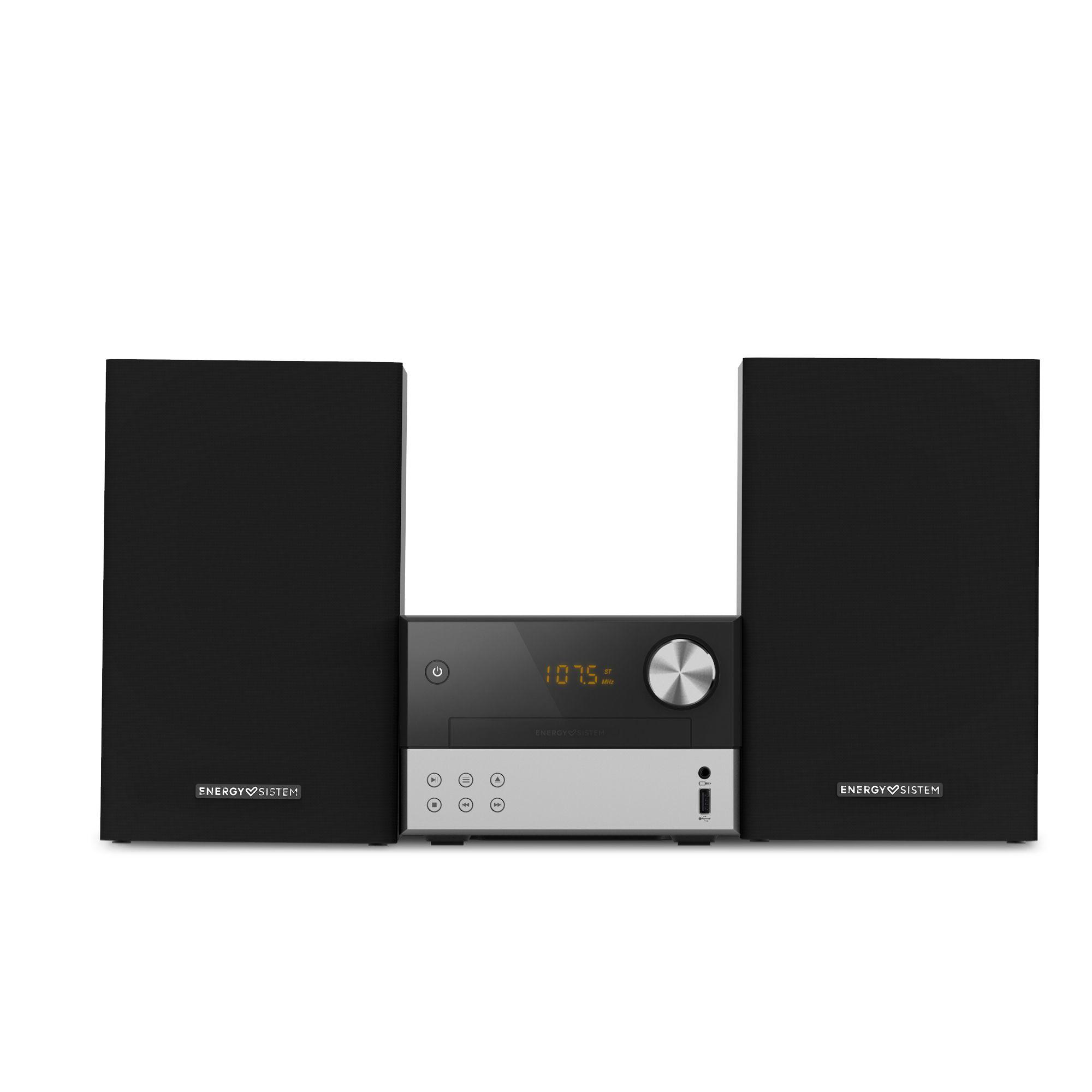 Energy Sistem Home Speaker 7 Micro Hi-Fi Microcadena de música para uso doméstico Negro, Plata 30 W