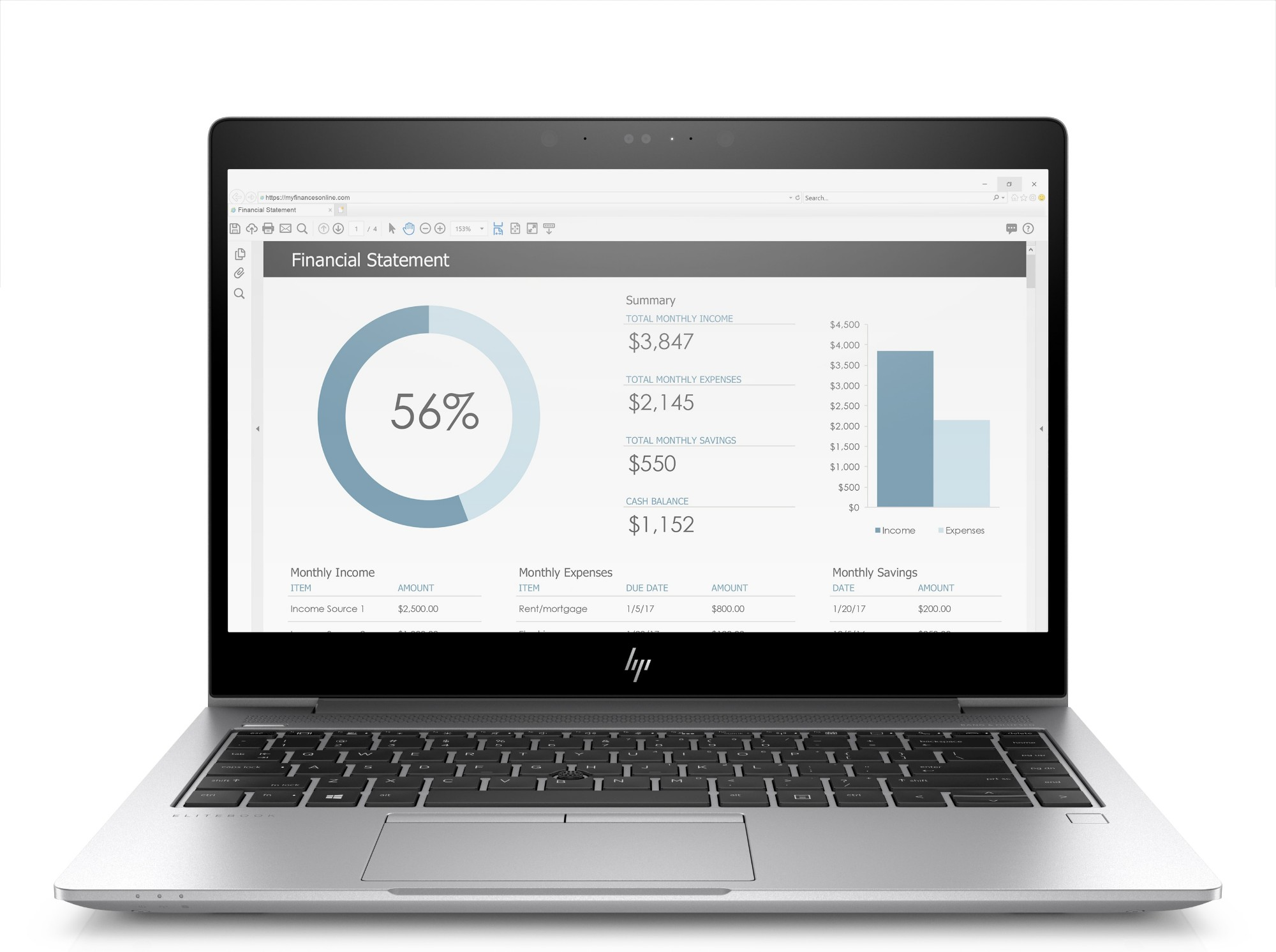 HP EliteBook 840 G3 2.5GHz i7-6500U 6th gen Intel® Core™ i7 14