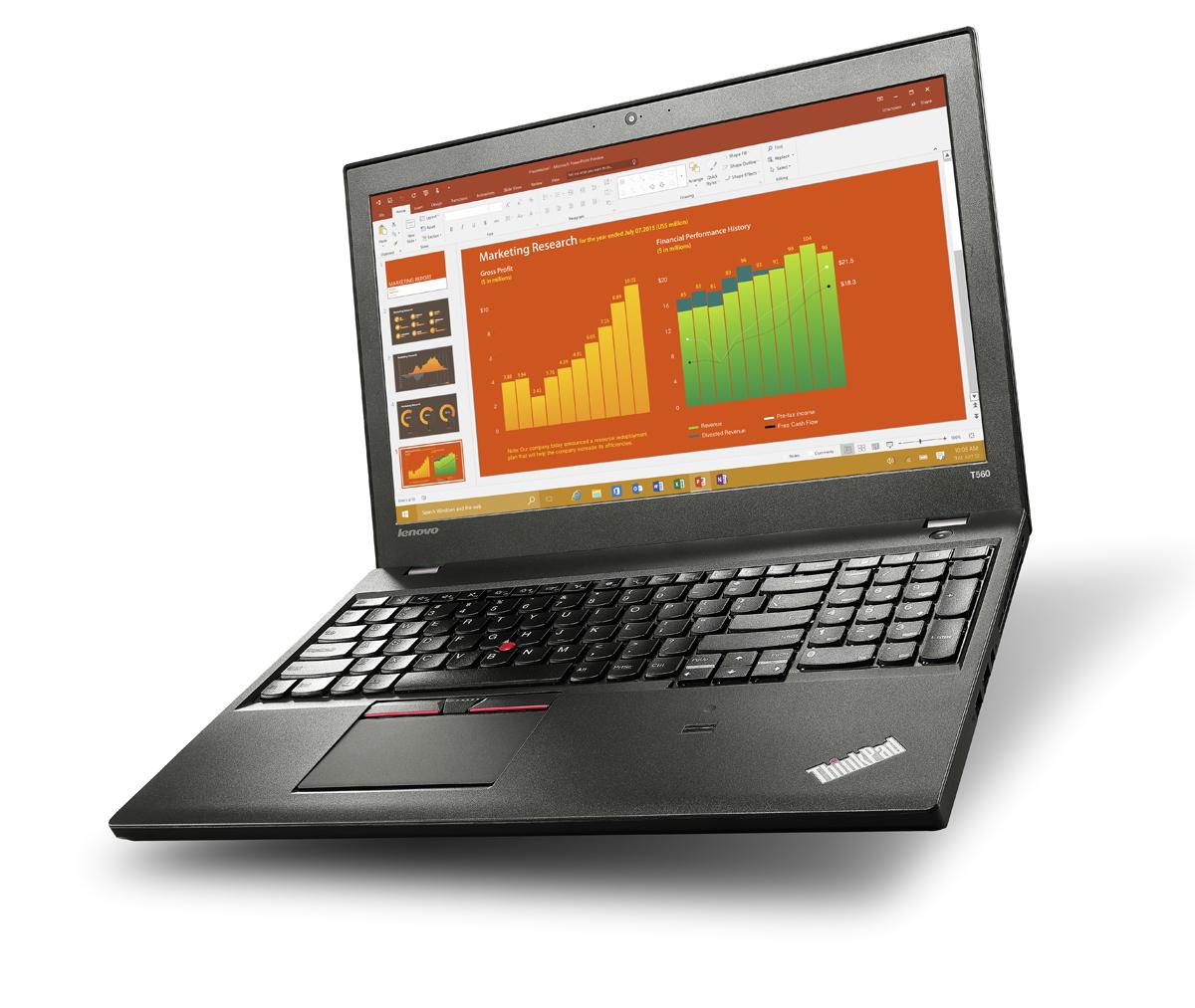 "Lenovo ThinkPad T560 2.3GHz i5-6200U 15.6"" 1920 x 1080pixels Black"