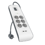 Belkin BSV604vf2M surge protector 6 AC outlet(s) 2 m White
