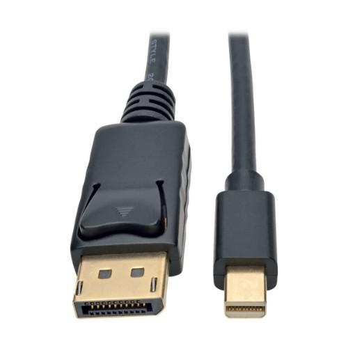 Tripp Lite Mini DisplayPort to DisplayPort 4K @ 60 Hz Adapter Cable (M/M), 4096 x 2160 (4K x 2K), Black, 1.83 m