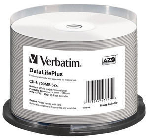 Verbatim DataLifePlus CD-R 700MB 50pc(s)