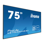 "iiyama LE7540UHS-B1 75"" LED 4K Ultra HD Black signage display"