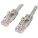 StarTech.com Cable de 2m Gris de Red Fast Ethernet Cat5e RJ45 sin Enganche - Cable Patch Snagless