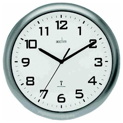 Anglo Continental Acctim Cadiz RC Wall Clock 25.5cm Silver 74137